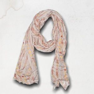 J.CREW Tan Scarf With Patterns